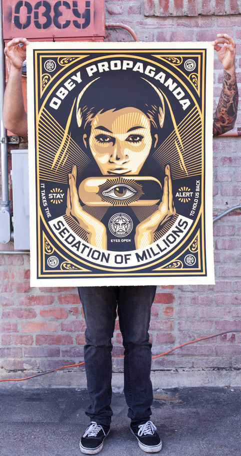 sedation pill large format print obey giant. Black Bedroom Furniture Sets. Home Design Ideas