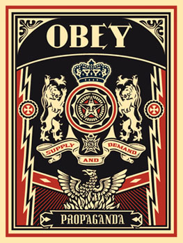 obey lions obey giant. Black Bedroom Furniture Sets. Home Design Ideas