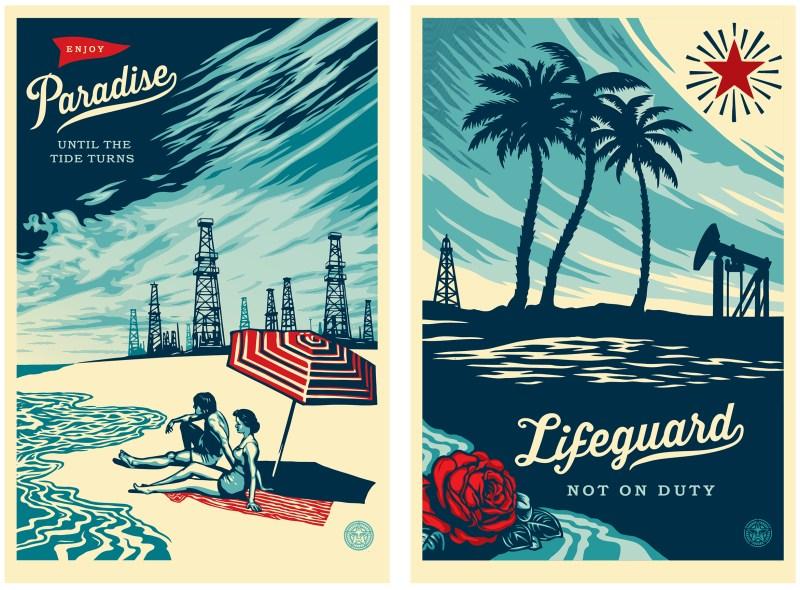 Paradise Turns and Lifeguard 24x36