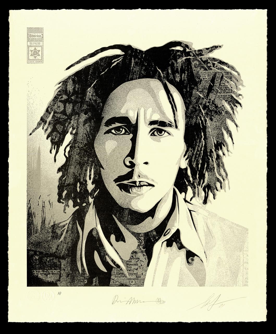 "Bob Marley 40th Letterpress - ""Confrontation"" - 16 x 19.5 inches"