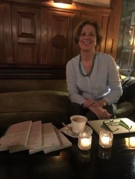 The President presents her books @tabard_inn