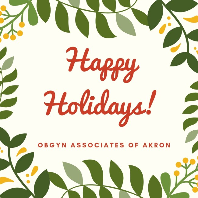 Holiday Hours for OBGYN Associates of Akron