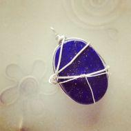 lapis lazuli silverwire work