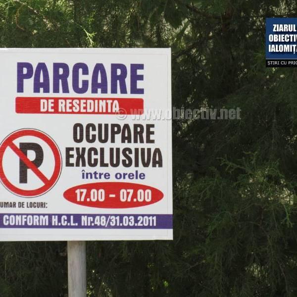 Slobozia: Nu se mai primesc cereri pentru locuri de parcare