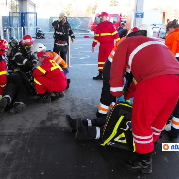 Fetești: Incendiu și accident cu victime multiple -  Exerciţiu cu activarea Planului roşu de intervenţie
