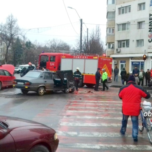 Slobozia: Accident rutier în centrul municipiului