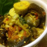 FOOD: Preparing Snail and Green Plantain Pottage the Igbo Style