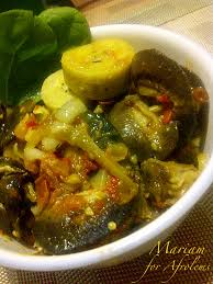 green plantain pottage