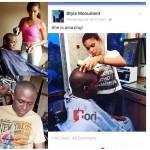 Meet Enugu Female Barber With Unbelievable Skills (Photos)