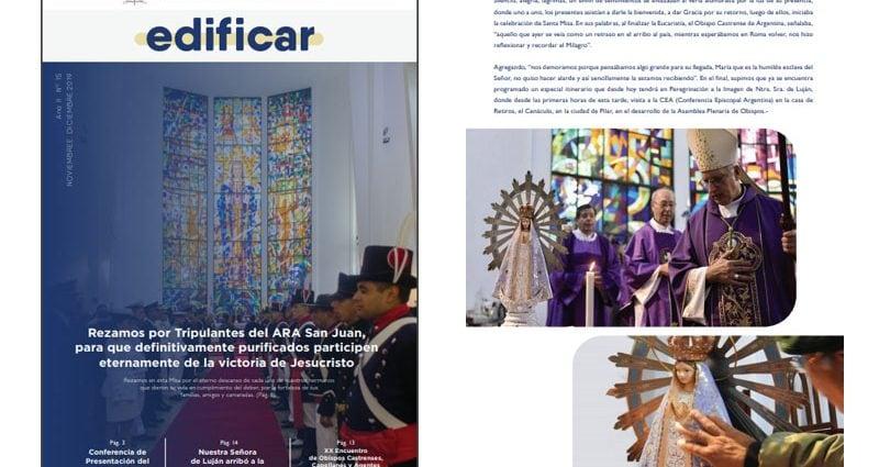 Tapa de la revista mensual Edificar número 15