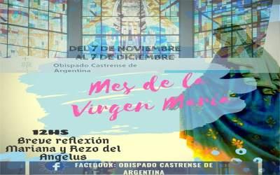 En el mes de la Virgen, te invitamos a participar de la reflexión Mariana y el rezo del Ángelus