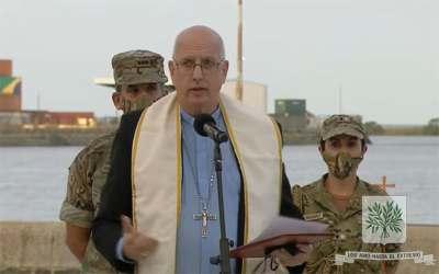 Mons. Olivera   Dios, protege a nuestros hermanos, concédeles buenos vientos para que con tu auxilio puedan cumplir eficazmente su misión sirviendo a la Patria