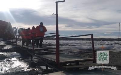 Antártida Argentina | Fieles castrense, peregrinaron junto a María en la Base Marambio
