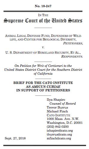 Animal Legal Defense Fund v. U.S. Department of Homeland ...