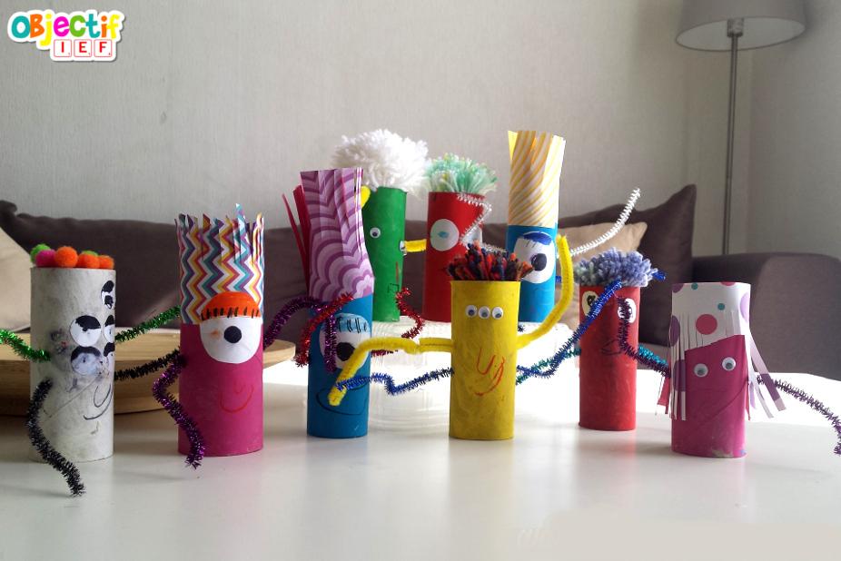 Petits monstres rigolos activité créative Objectif IEF