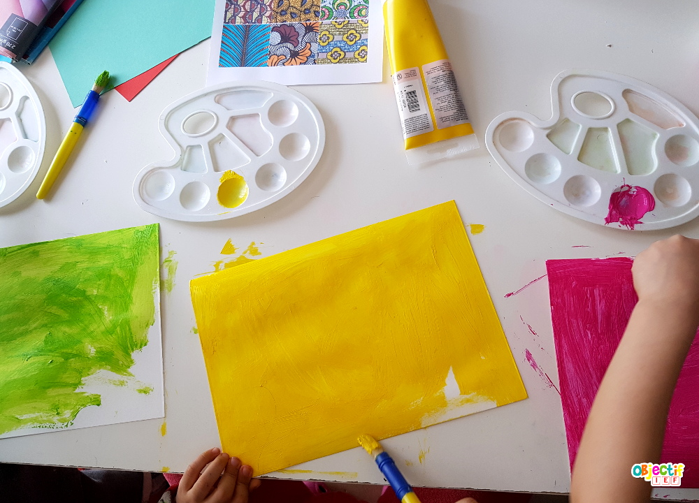 wax en peinture, art visuel Sénégal tour du monde Objectif IEF