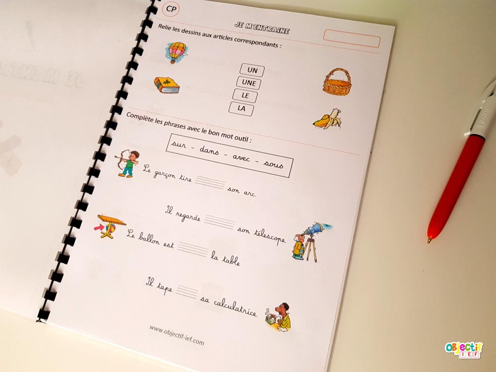 grammaire cp instruction en famille ief étude de la langue cycle 2 objectif IEF