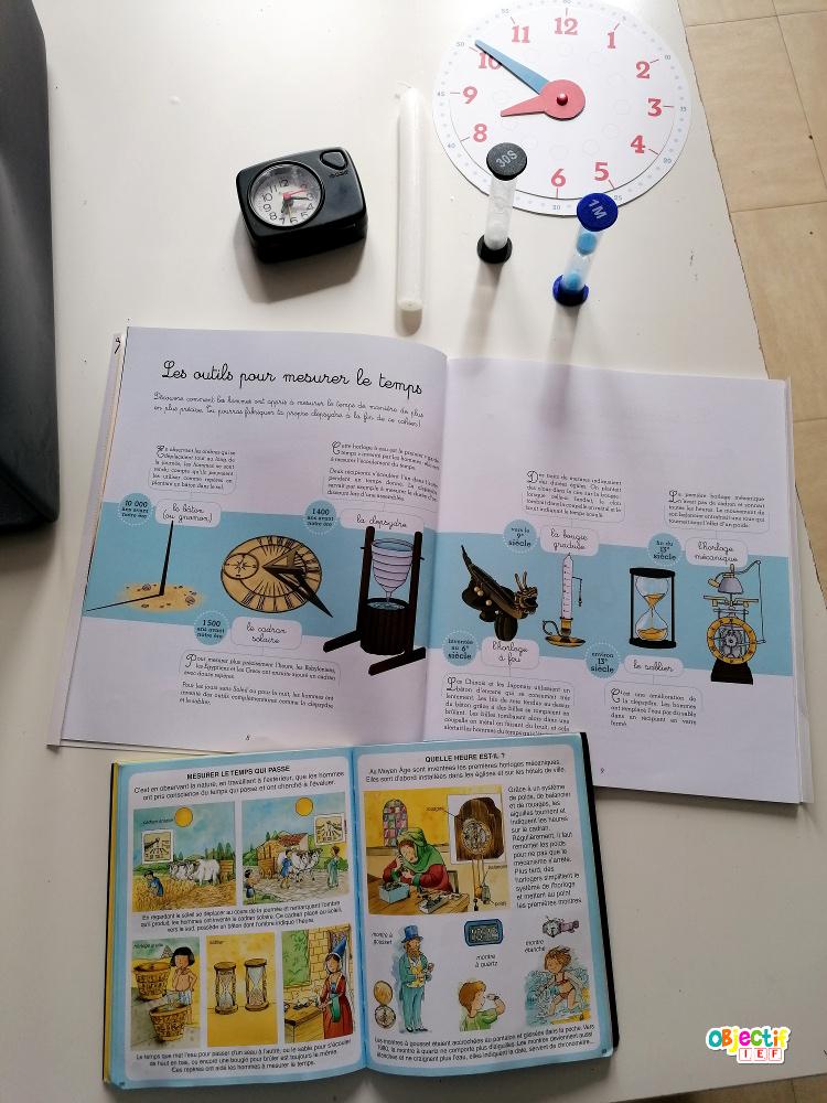 outils mesure temps découverte du monde ddm cycle 2 cp ce1 temps ief instruction en famille école à la maison