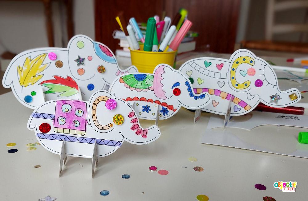 bricolage elephant inde activité enfant tour du monde ief instruction en famille école à la maison