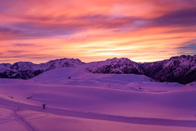 Coucher de soleil Alpe d'Huez