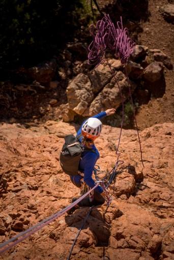 taper un rappel en alpinisme