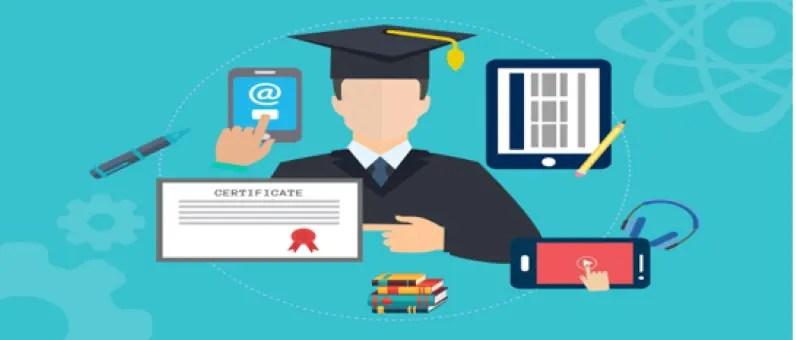 homme diplômé qui apprend l'arabe en ligne
