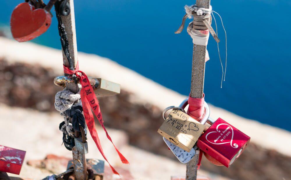 Bucket list couple - cadenas d'amour