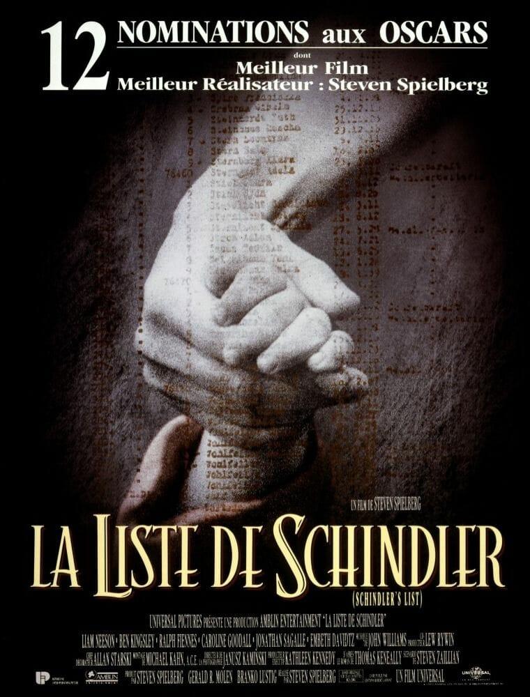 Films a voir une fois dans sa vie - La liste de Schindler