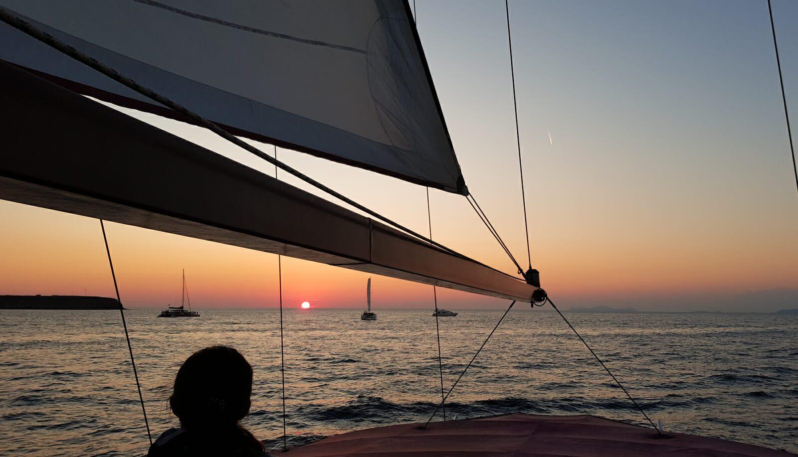 Coucher de soleil bateau