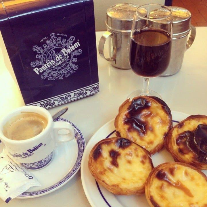 Pasteis de Belem cafe table
