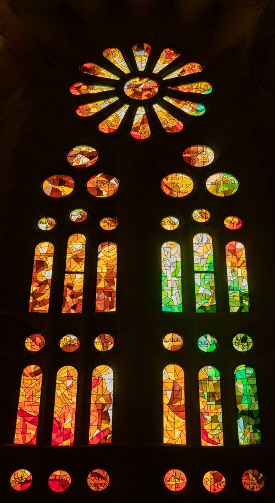 Sagrada Familia Barcelone vitraux 3