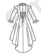 Le dos de la robe selon le patron