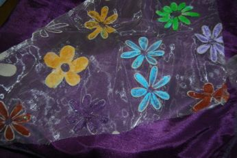 Chez Solène, les fleurs étaient violettes et turquoise clair