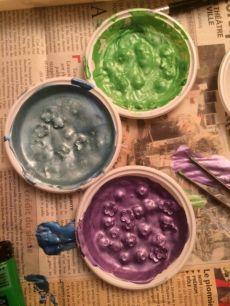 Gros bain pour être sure qu'elles sont bien colorées