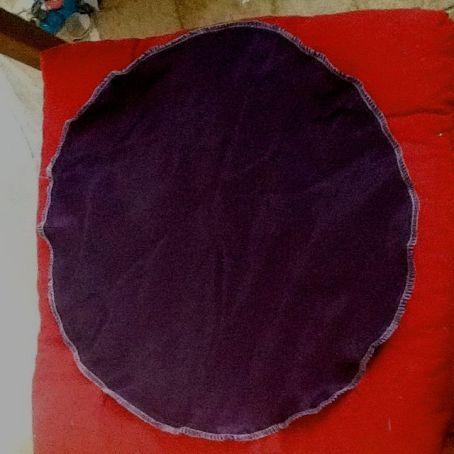 Deux couches de tissu cousues ensemble