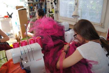 Couture des rubans ensemble, pas très pratique !