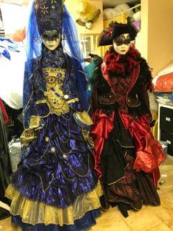 Mes costumes pour Venise 2019 wt 2020, créés pour l'exposition, qui subiront probabalement quelques modifications !