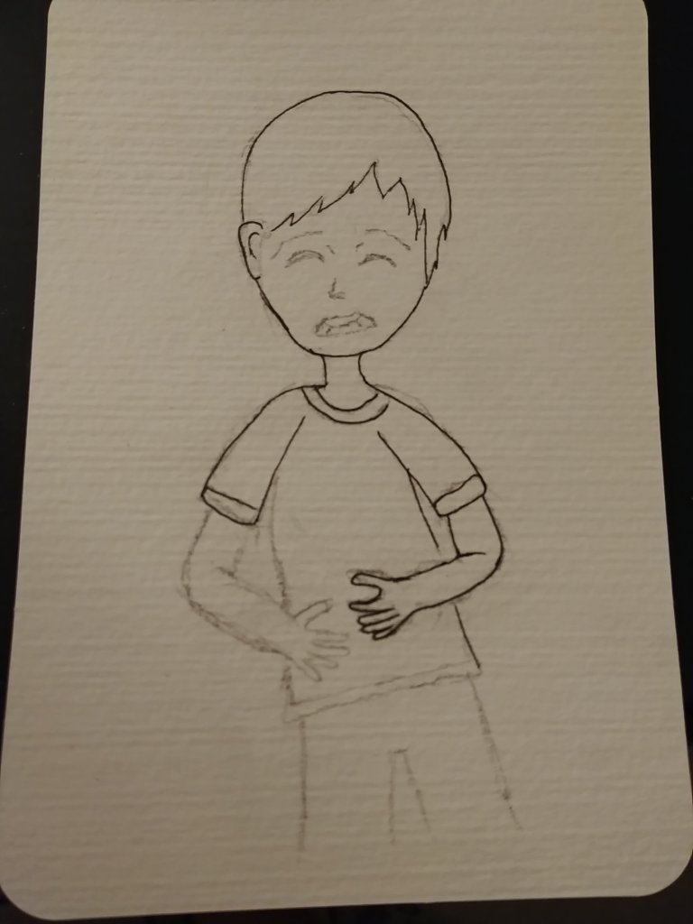 dessin enfant mal au ventre