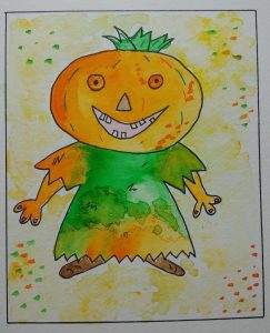Personnage Citrouille Halloween
