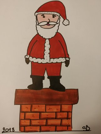 Dessin Père Noël facile