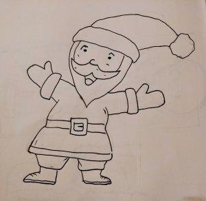 Comment Dessiner Un Père Noël Facilement