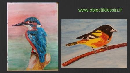 mes peintures acryliques