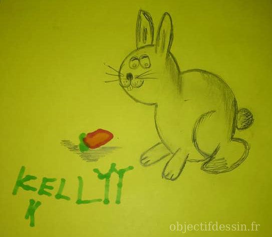 dessin lapin Kelly