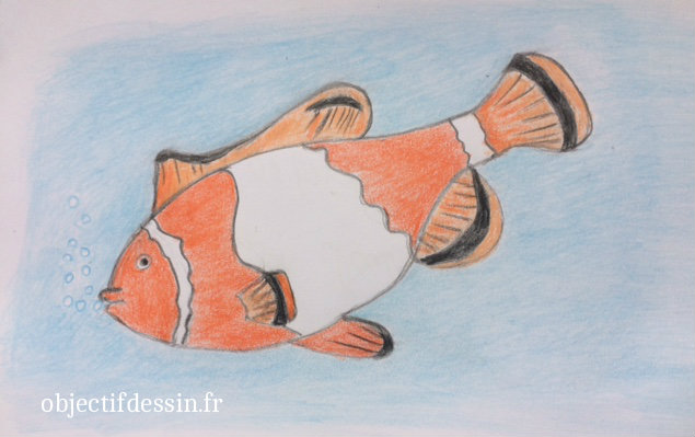 dessin facile poisson