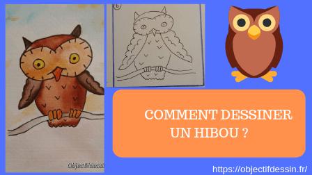 comment dessiner hibou