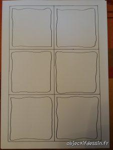 tuiles zentangle avec cadre