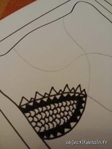 créer des motifs de zentangle