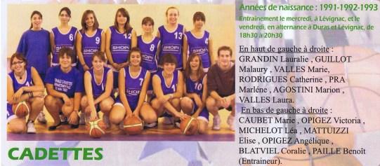 2008-2009 Cadettes