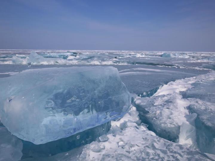 Sibérie Baïkal gelé