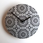 Tile Luxe - black clock